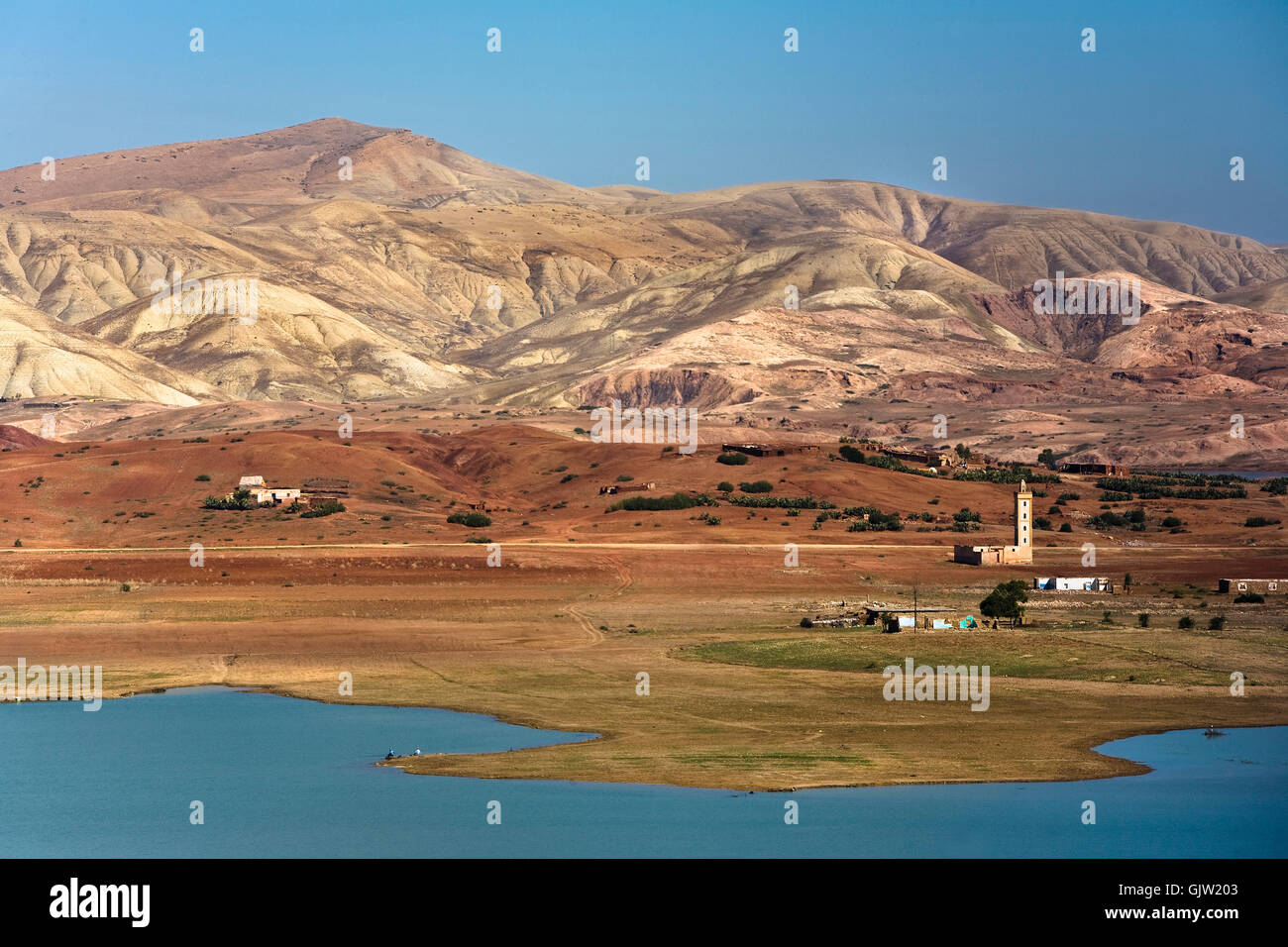 mountains morocco landscape format - Stock Image