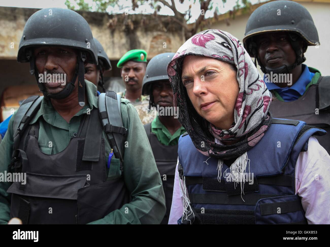 SOMALIA, Baidoa: In a photograph taken and released by the African Union-United Nations Information Support Team - Stock Image