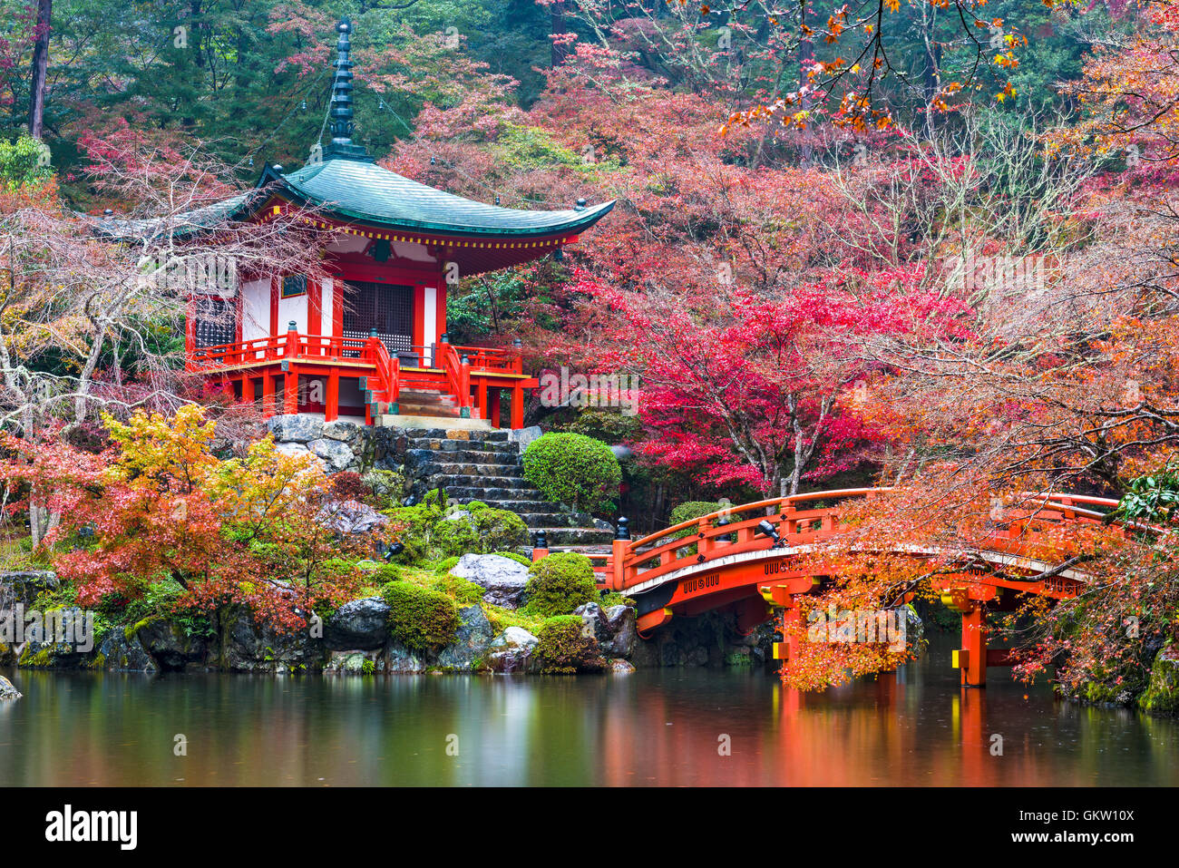 Kyoto, Japan at Daigo-ji Temple in autumn.Stock Photo