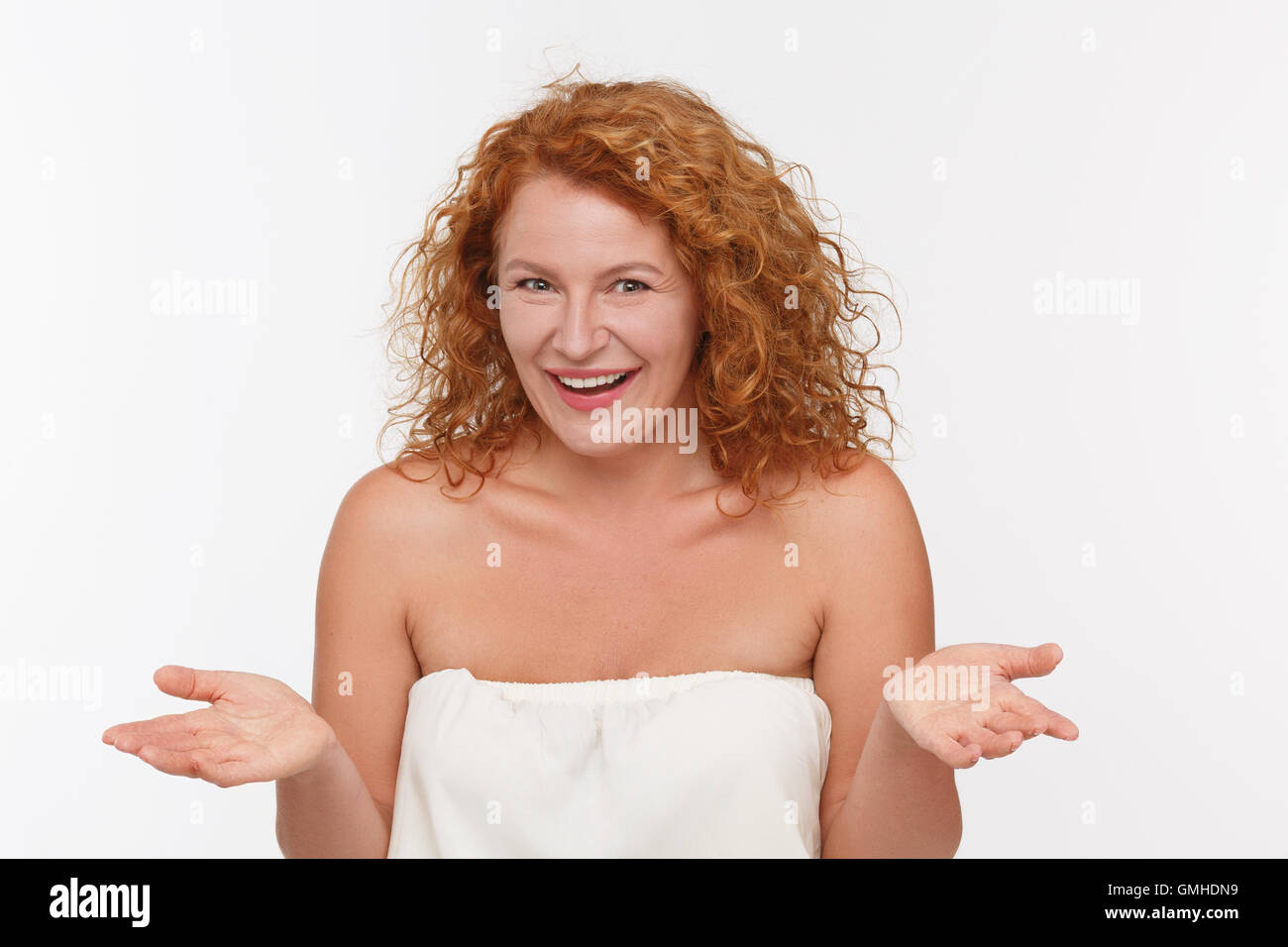 Cunning mature woman - Stock Image