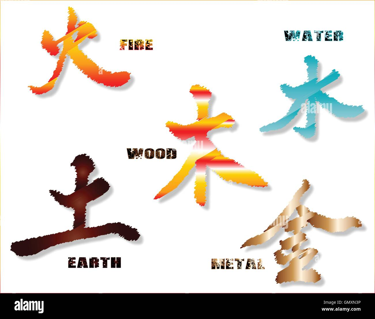 Chinese Symbols Stock Vector Images Alamy