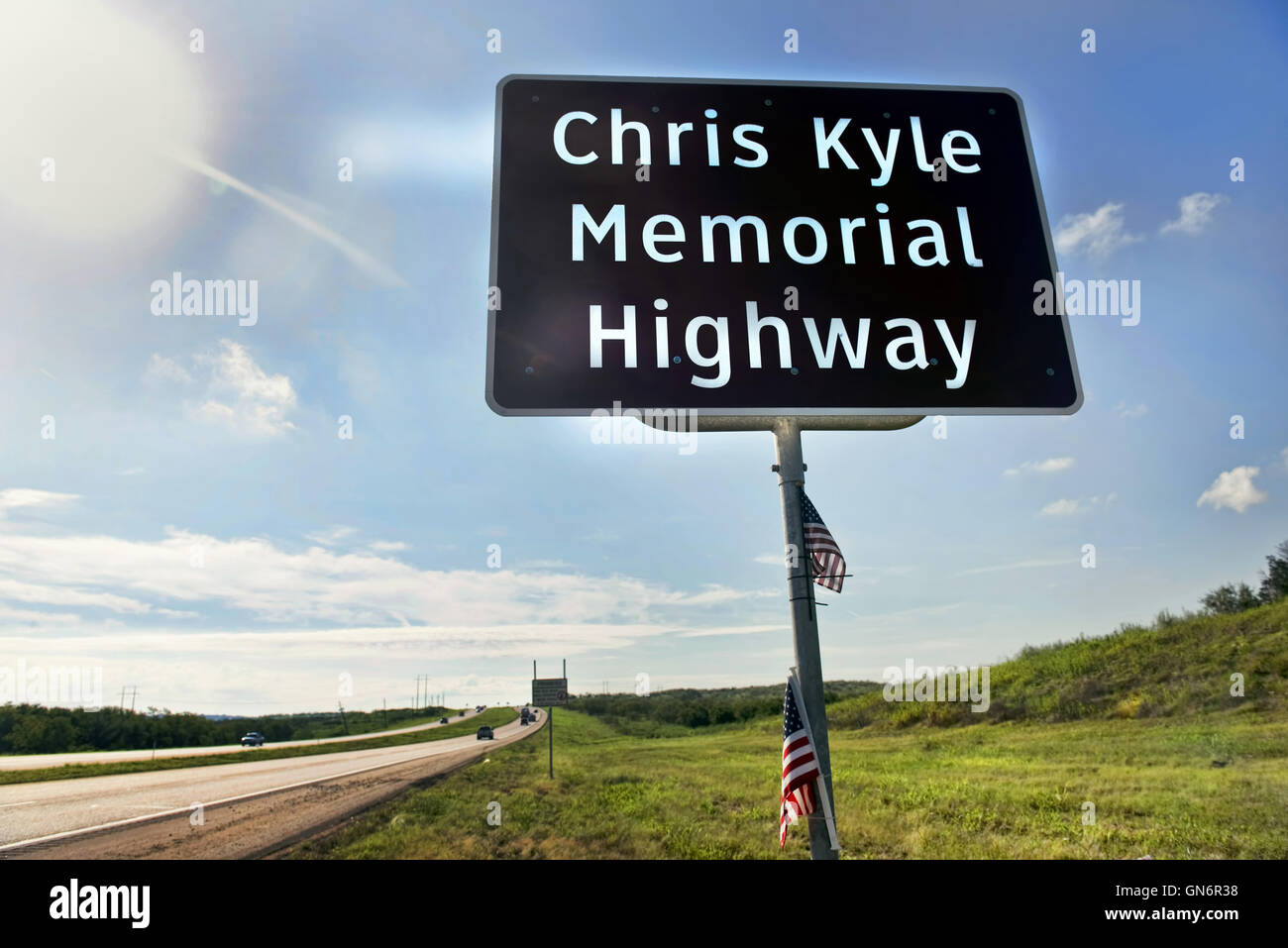 Chris Kyle Memorial Hwy 287 in Midlothian ,Texas opened in 2016. He was  reported to be the deadliest sniper in his history.
