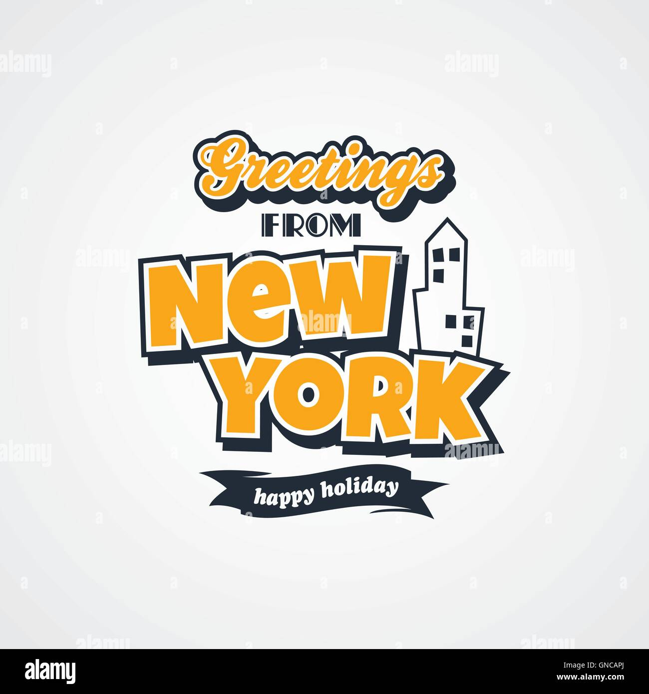 New york vacation greetings theme stock vector art illustration new york vacation greetings theme m4hsunfo