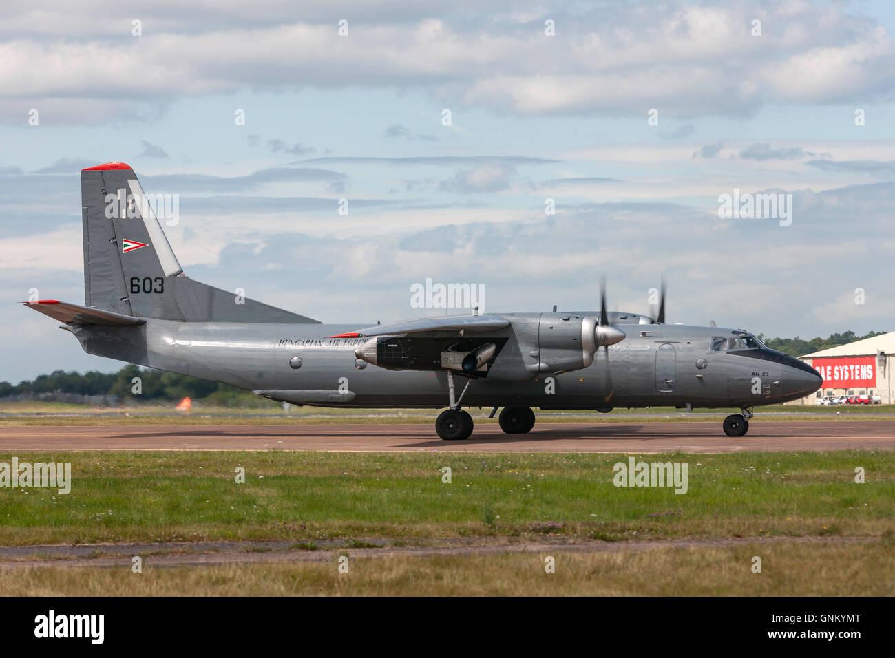 Hungarian Air Force (Magyar Légiero) Antonov An-26 transport aircraft - Stock Image