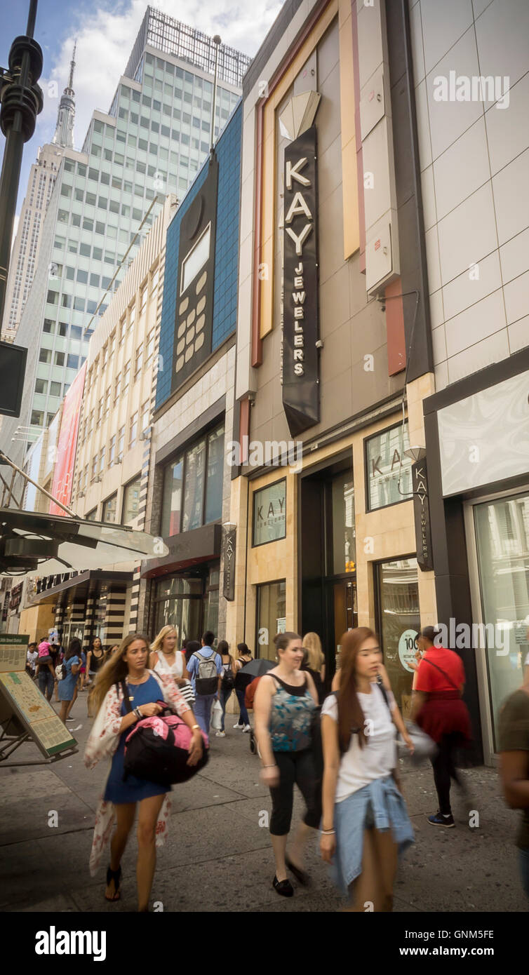 A Kay Jewelers store in Herald Square in New York on Friday August