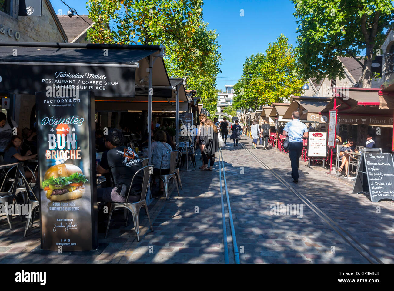 Paris France Street Scenes French People Restaurants In The