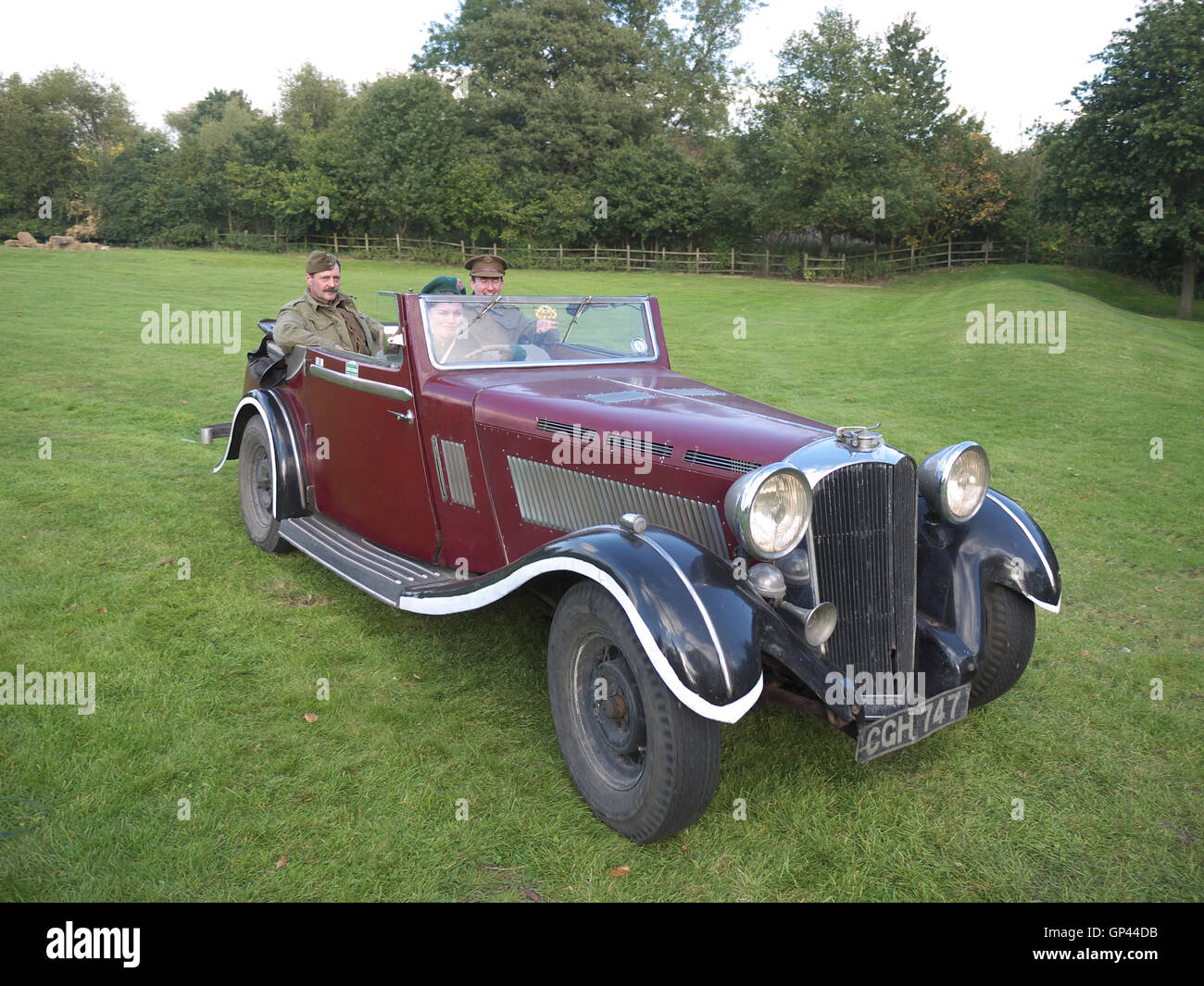 Vintage car on display at Rufford Abbey - Stock Image