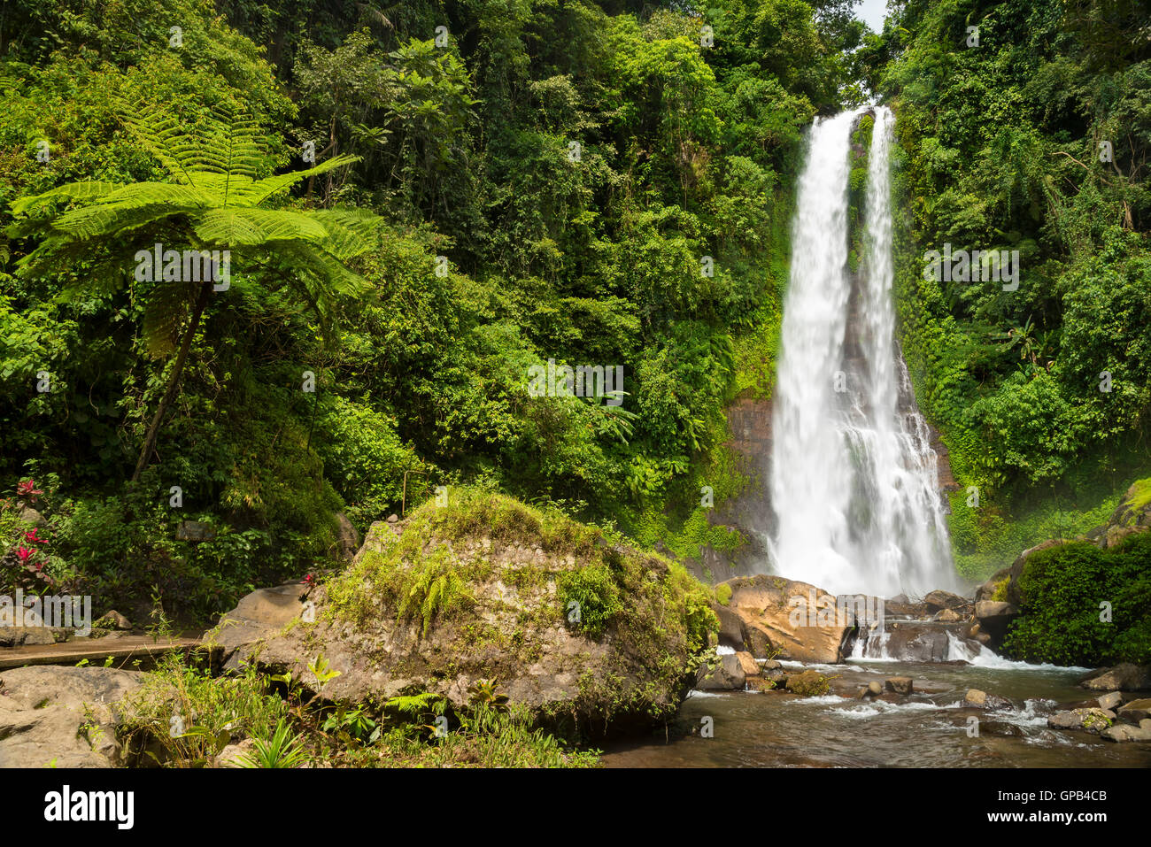 Amazing waterfall Git Git, Bali, Indonesia - Stock Image