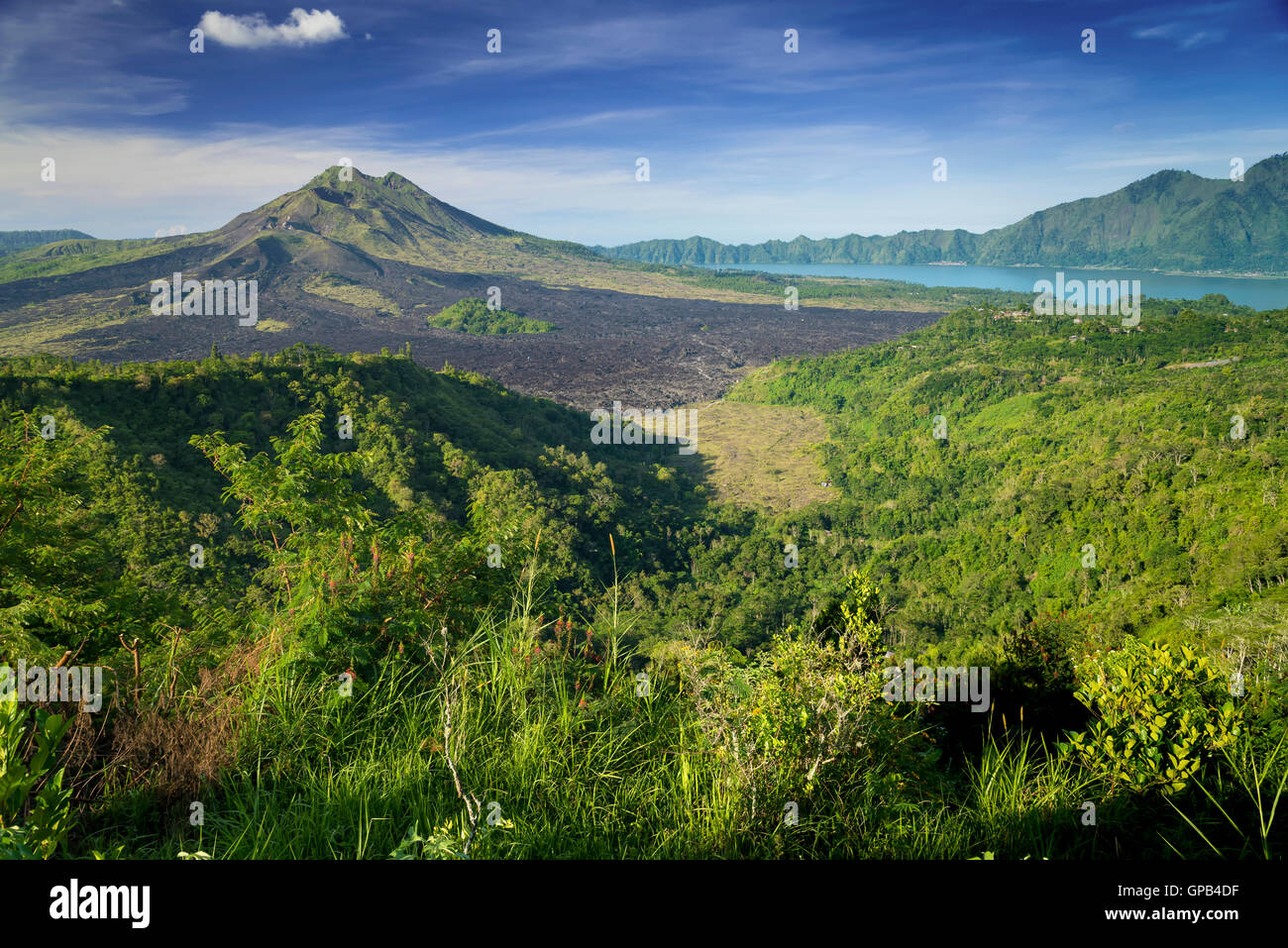 Monumental Kintamani Volcano of Bali, Indonesia - Stock Image