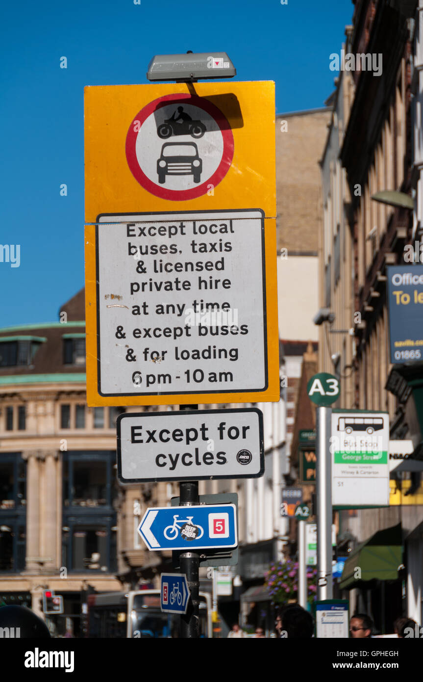 Traffic restrictions sign Stock Photo