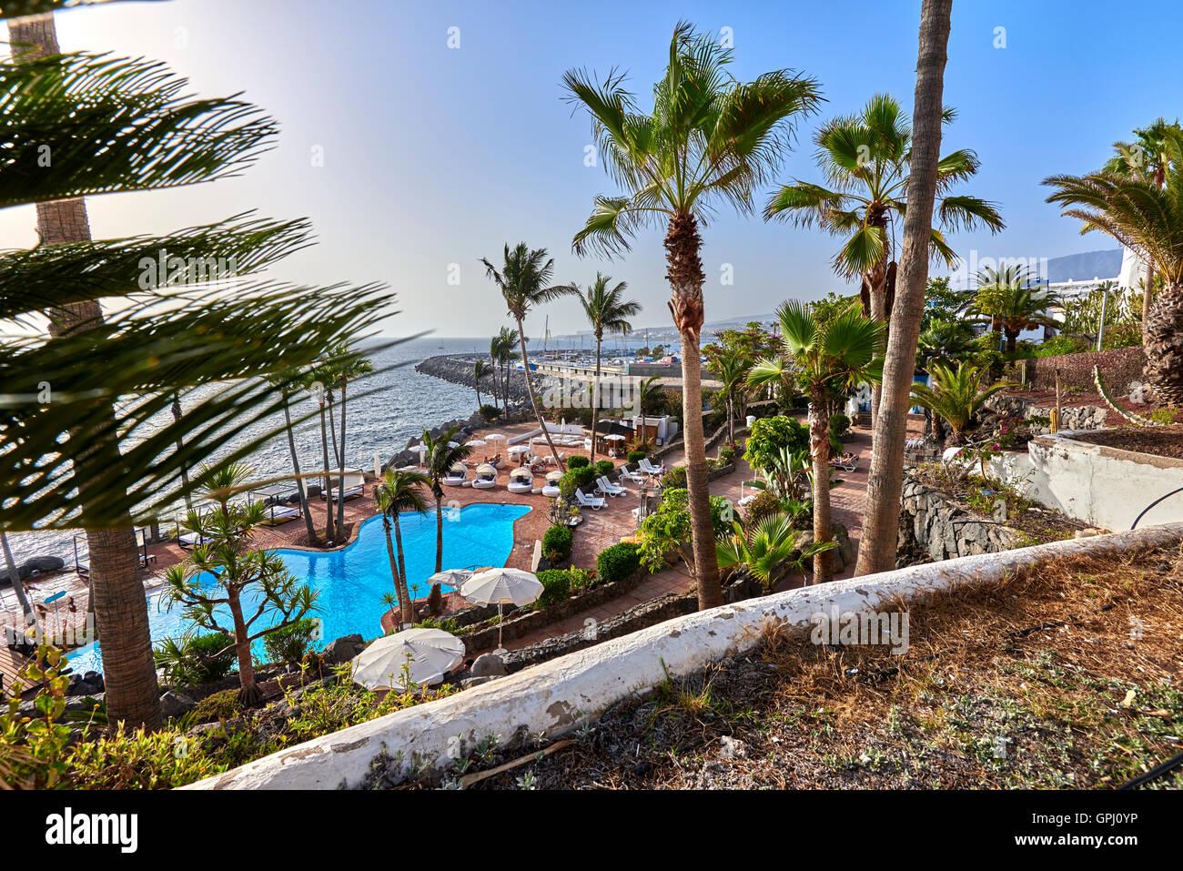Hotel Jardin Tropical Costa Adeje Tenerife Stock Photo 117180554