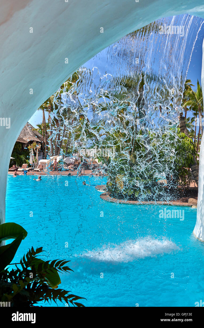 Hotel Jardin Tropical Costa Adeje Tenerife Stock Photo 117180658