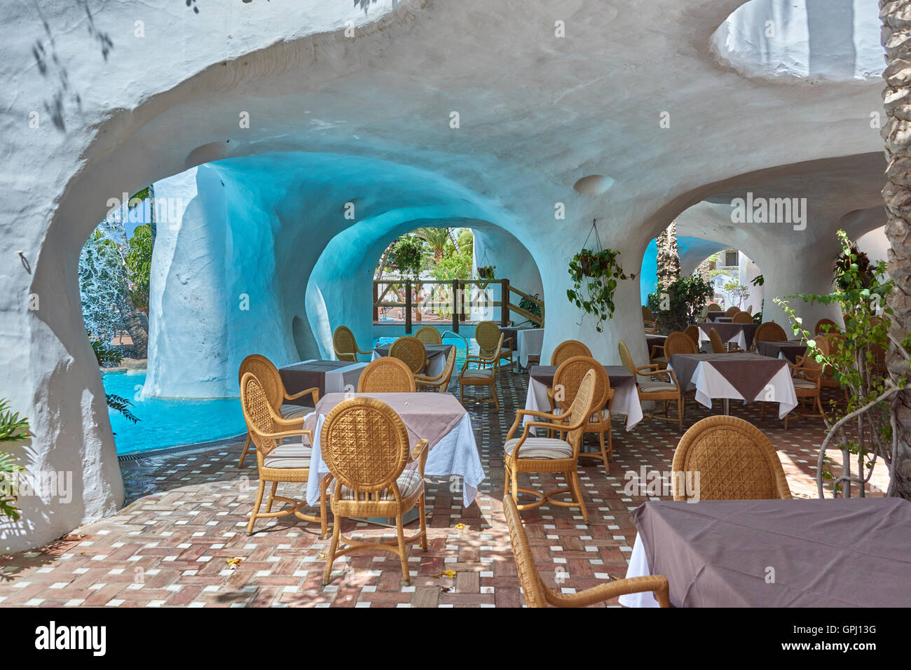 Hotel Jardin Tropical Costa Adeje Tenerife Stock Photo 117180660