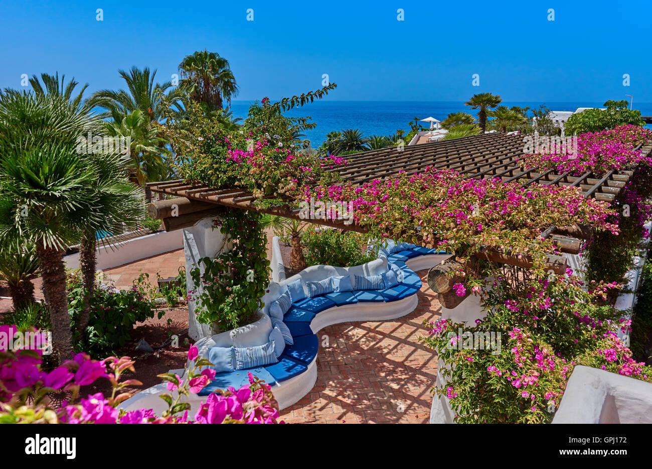 Hotel Jardin Tropical Costa Adeje Tenerife Stock Photo 117180758