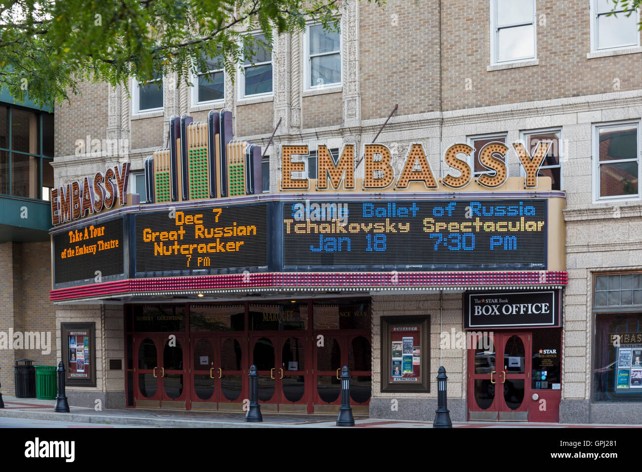 Fort Wayne, Indiana - The Embassy Theatre, a performing arts center. - Stock Image