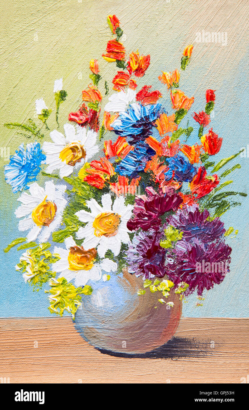 Drawing flowers in a vase oil watercolor abstract painting stock drawing flowers in a vase oil watercolor abstract painting izmirmasajfo Choice Image