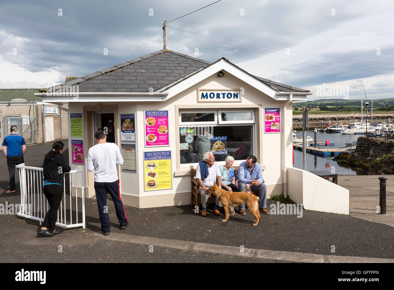 Morton famous fish and chips in Ballycastle, County Antrim, Northern Ireland, United Kingdom Stock Photo