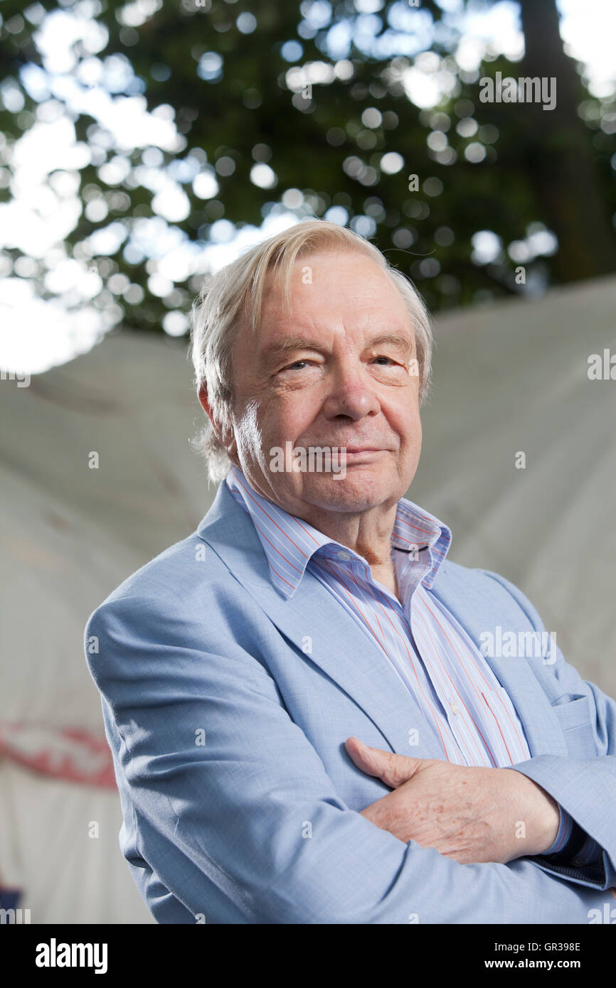 Michael Billington OBE, the British author and arts critic, at the Edinburgh International Book Festival. Edinburgh, - Stock Image