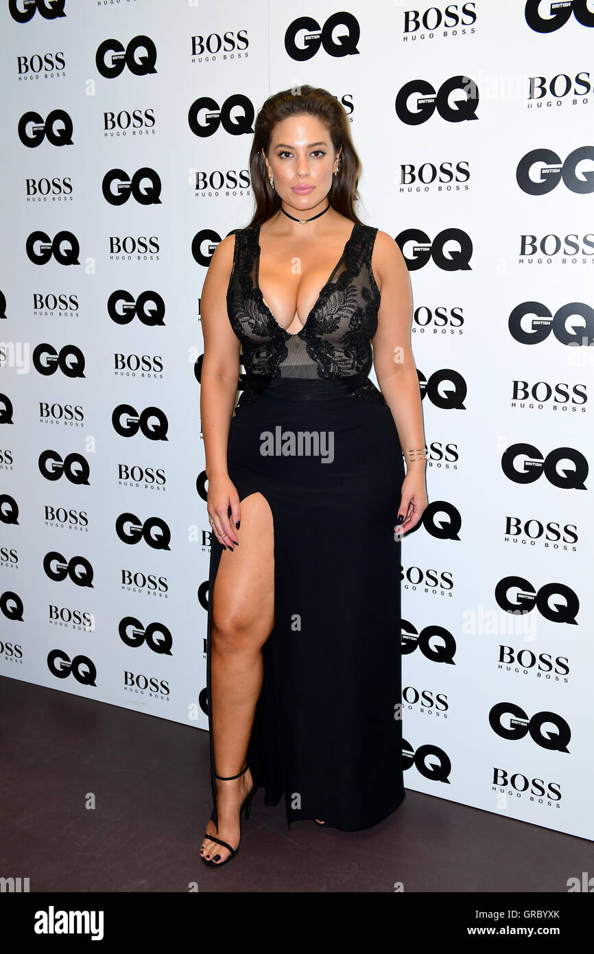 EMBARGOED UNTIL 11.30PM TUESDAY 6TH SEPTEMBER Ashley Graham in the press room at the GQ Men of the Year Awards 2016 - Stock Image