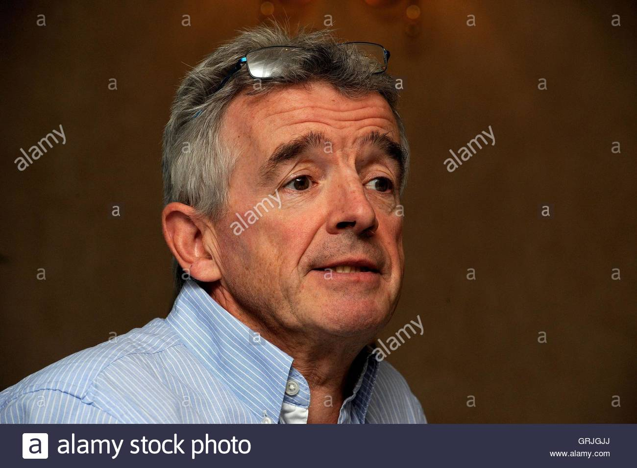 File photo dated 31/08/16 of Ryanair's chief executive Michael O'Leary, as the airline is to base all 50 - Stock Image
