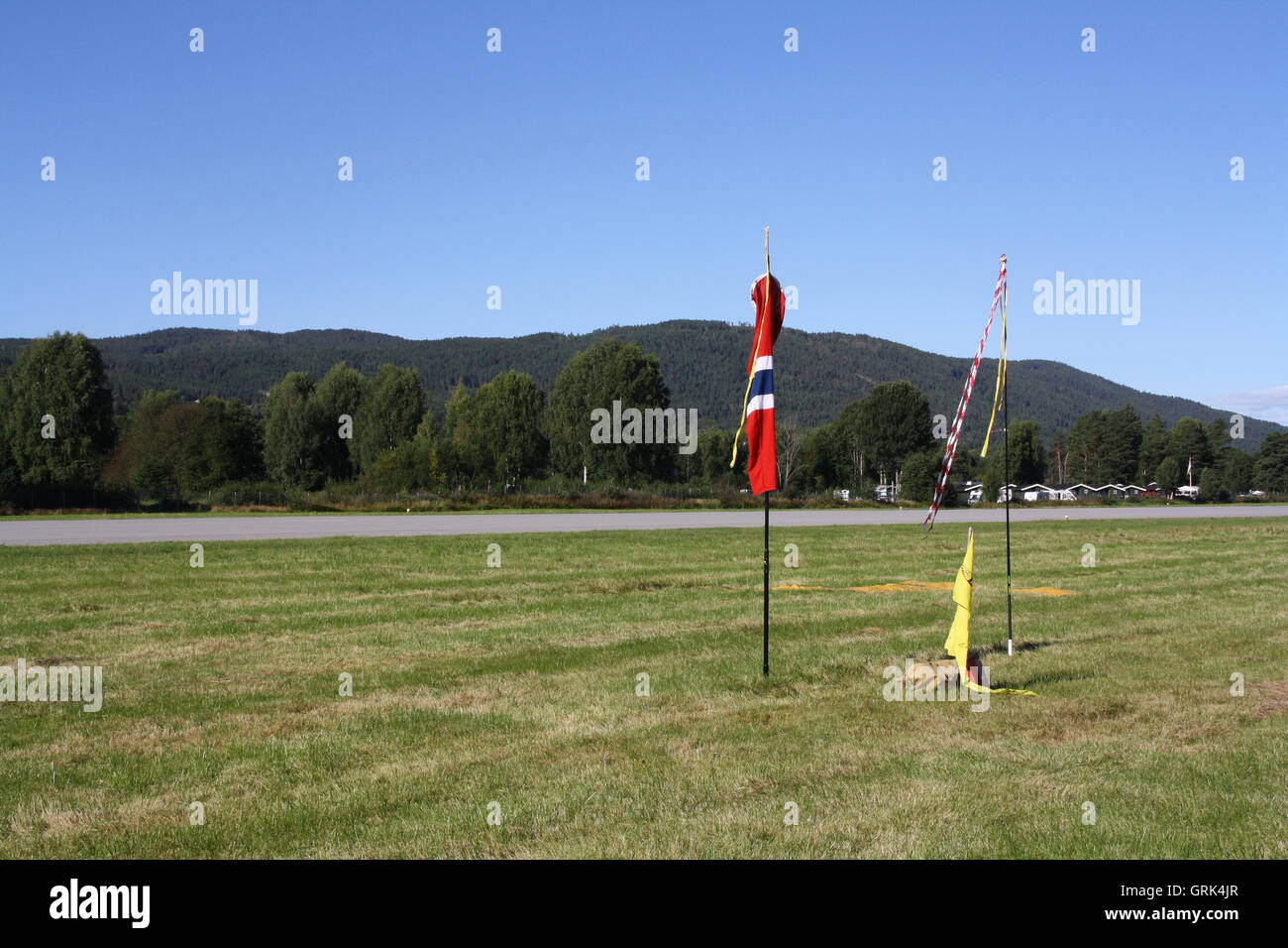 Clear day at Notodden Airport - Stock Image