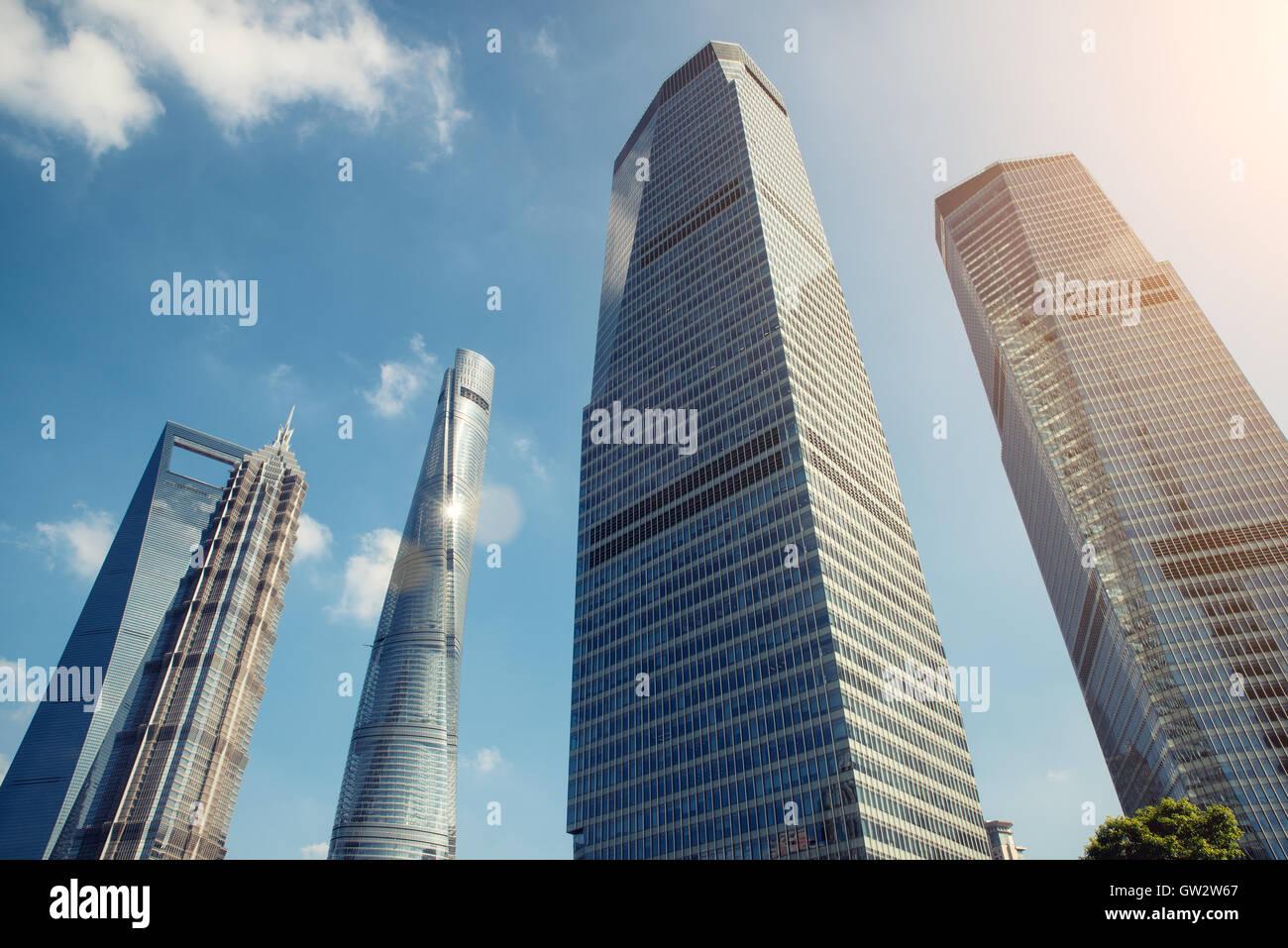 Shanghai skyscraper in Lujiazui Shanghai financial district in Shanghai, China. - Stock Image
