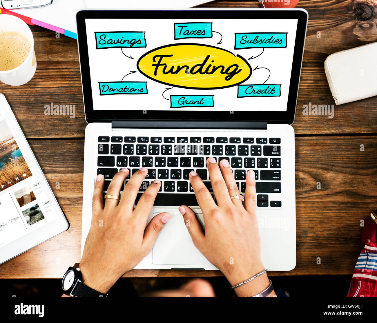 Funding Grant Donation Diagram Concept - Stock Image