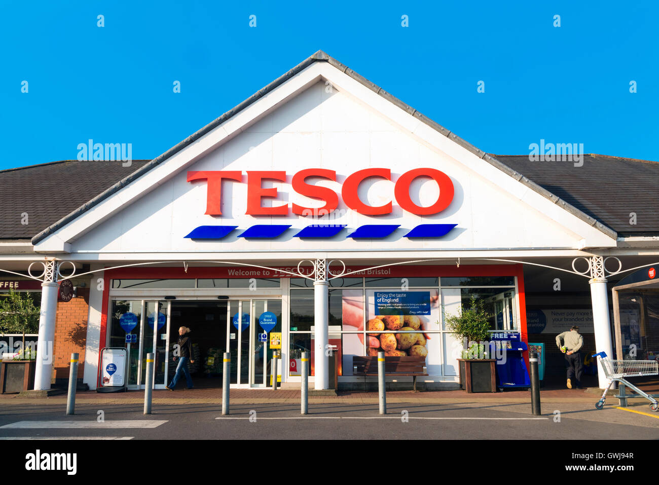Tesco supermarket, UK. Stock Photo