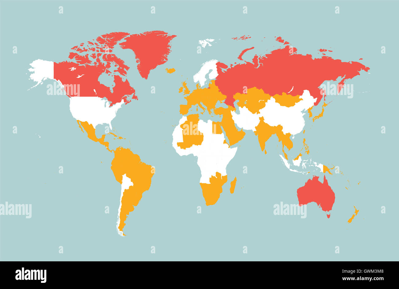 World map vector flat with countries blue stock photo 119070568 alamy world map vector flat with countries blue gumiabroncs Choice Image