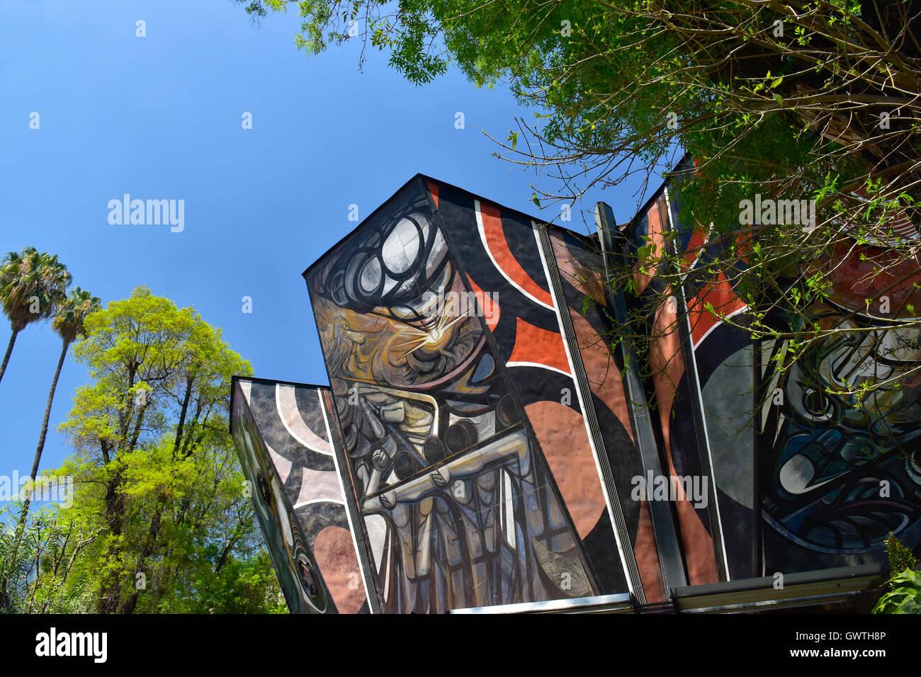 Polyforum Siqueiros, Mexico City, Mexico - Stock Image