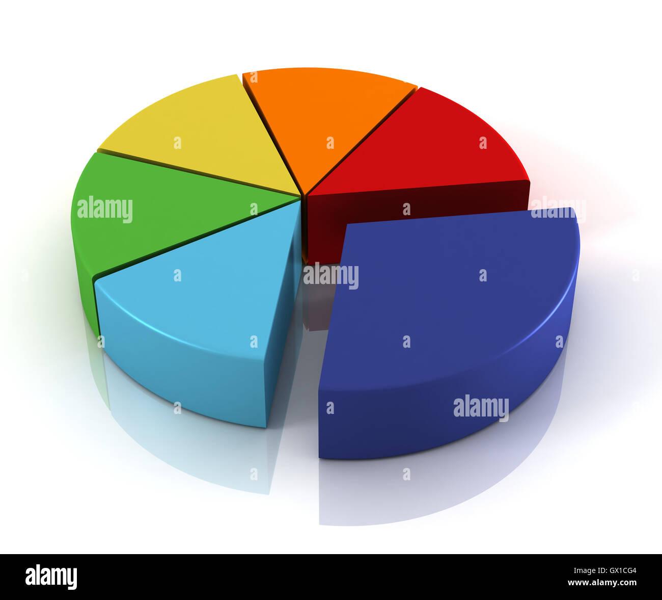 Pie Chart 3d Illustration Stock Photo 119275076 Alamy