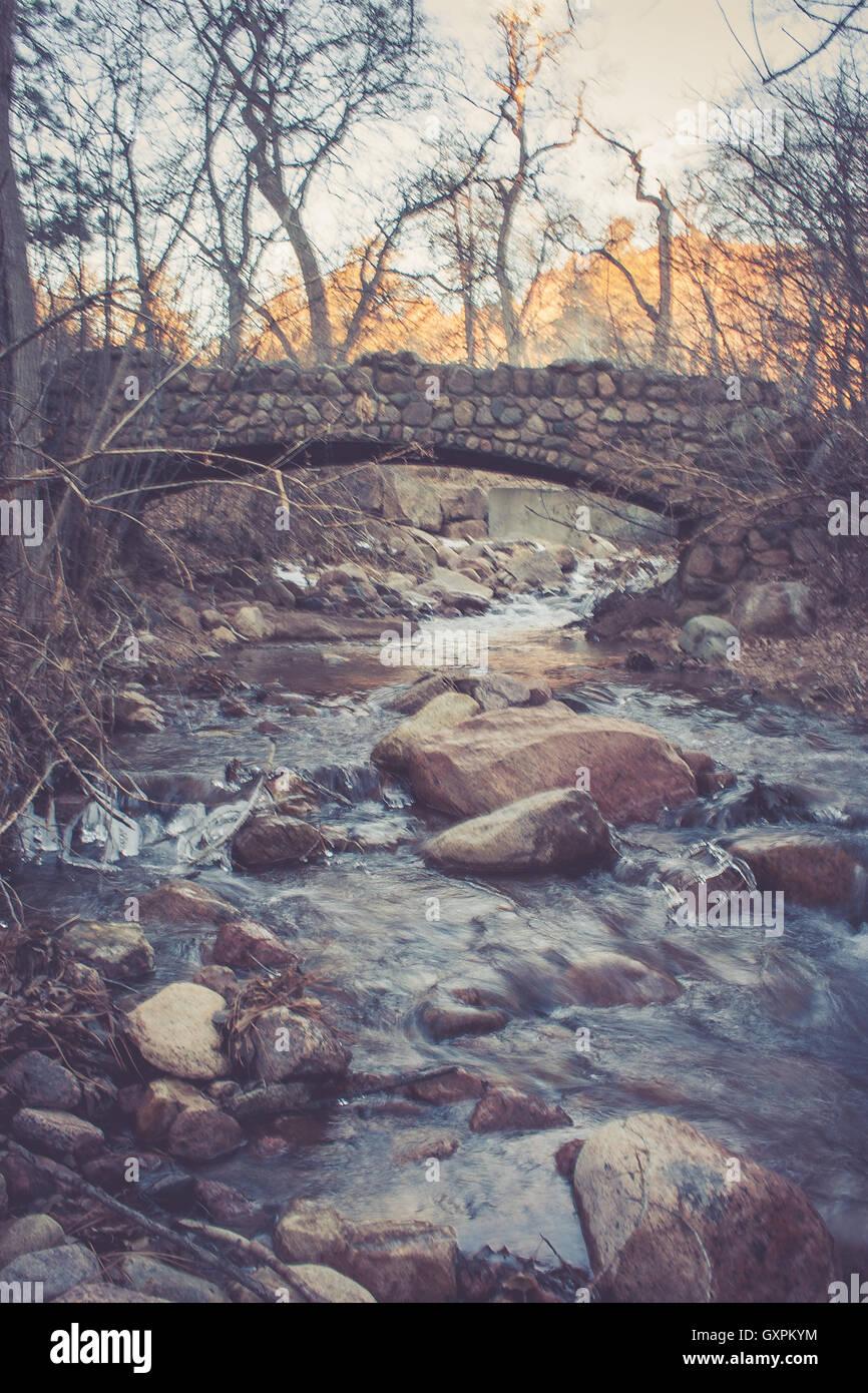 Bridge Over River - Stock Image