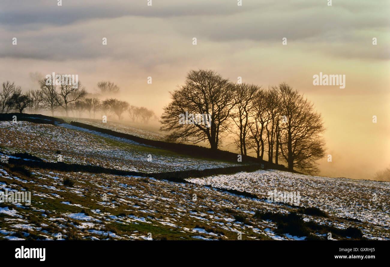 Cloud inversion, Bamford Edge - Stock Image