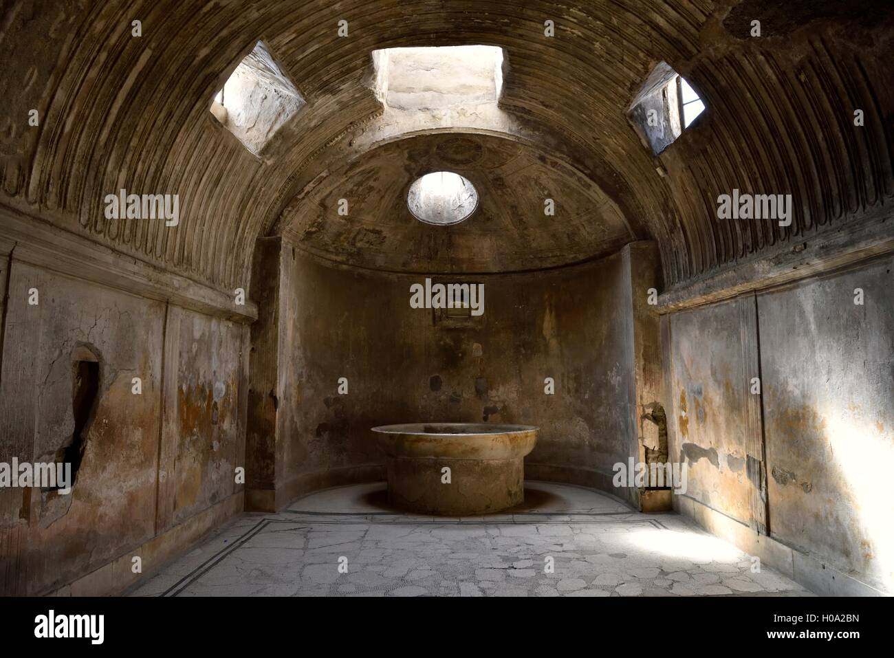 Stabian Baths, ancient city of Pompeii, Campania, Italy Stock Photo ...