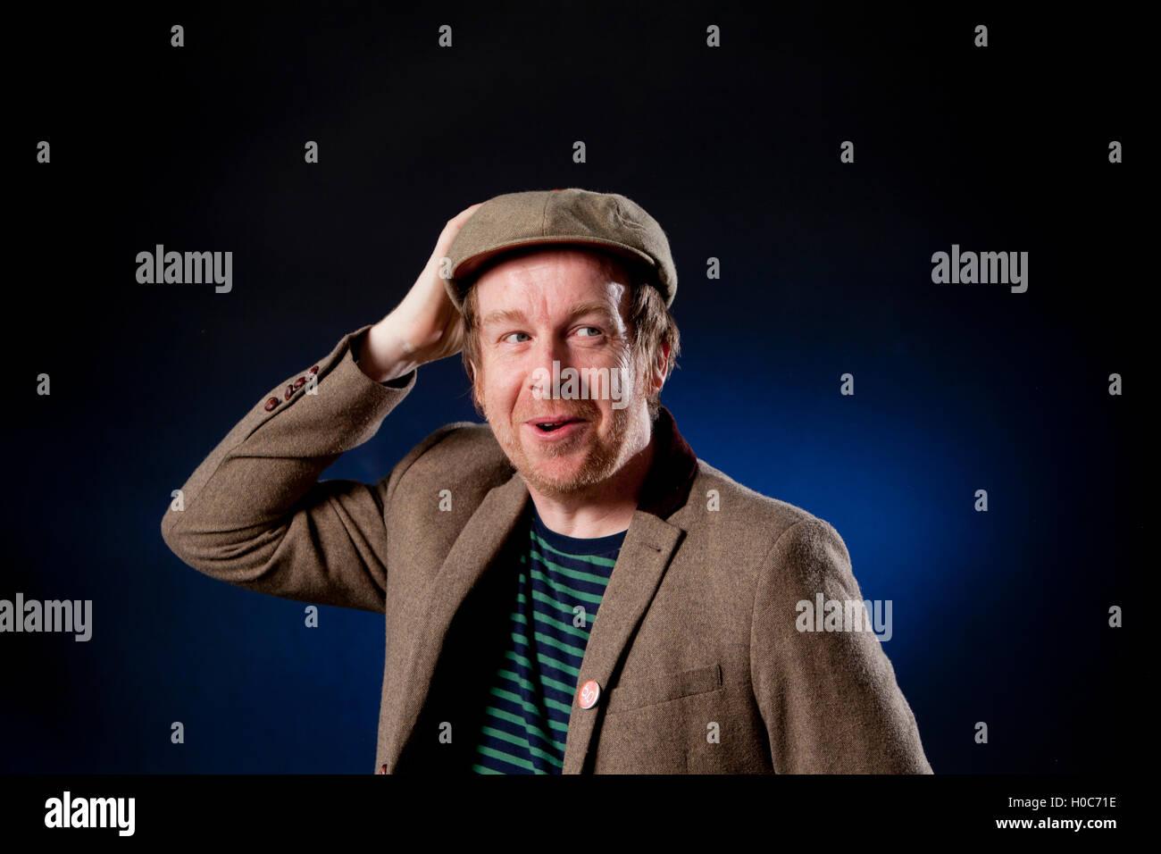 Kevin Barry, the Irish novelist and short-story writer, at the Edinburgh International Book Festival. Edinburgh, - Stock Image