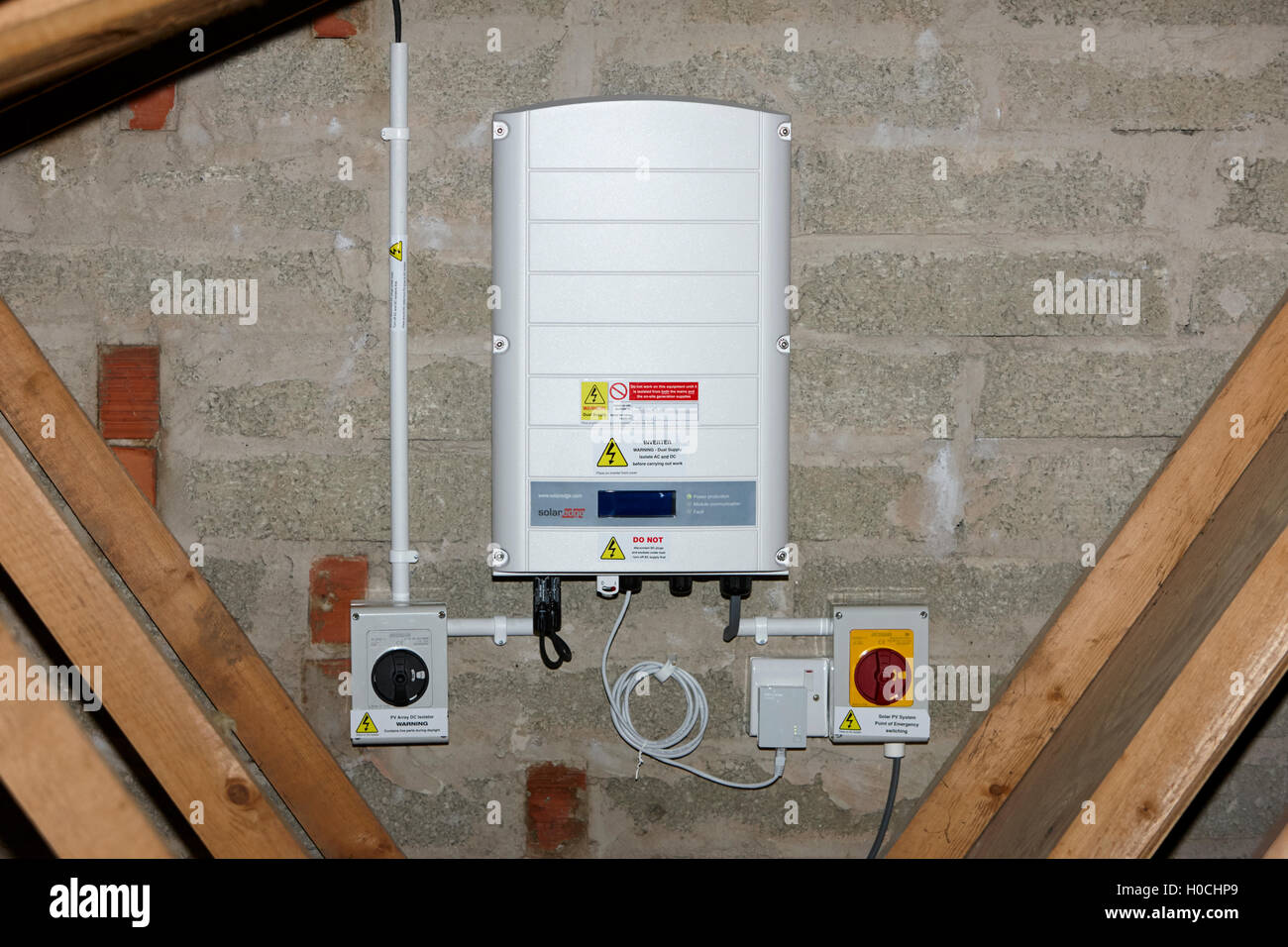Solar Panels Wiring To House Diagrams Panel Diagram Uk Solaredge Inverter In A Domestic Installation Grid Schematic