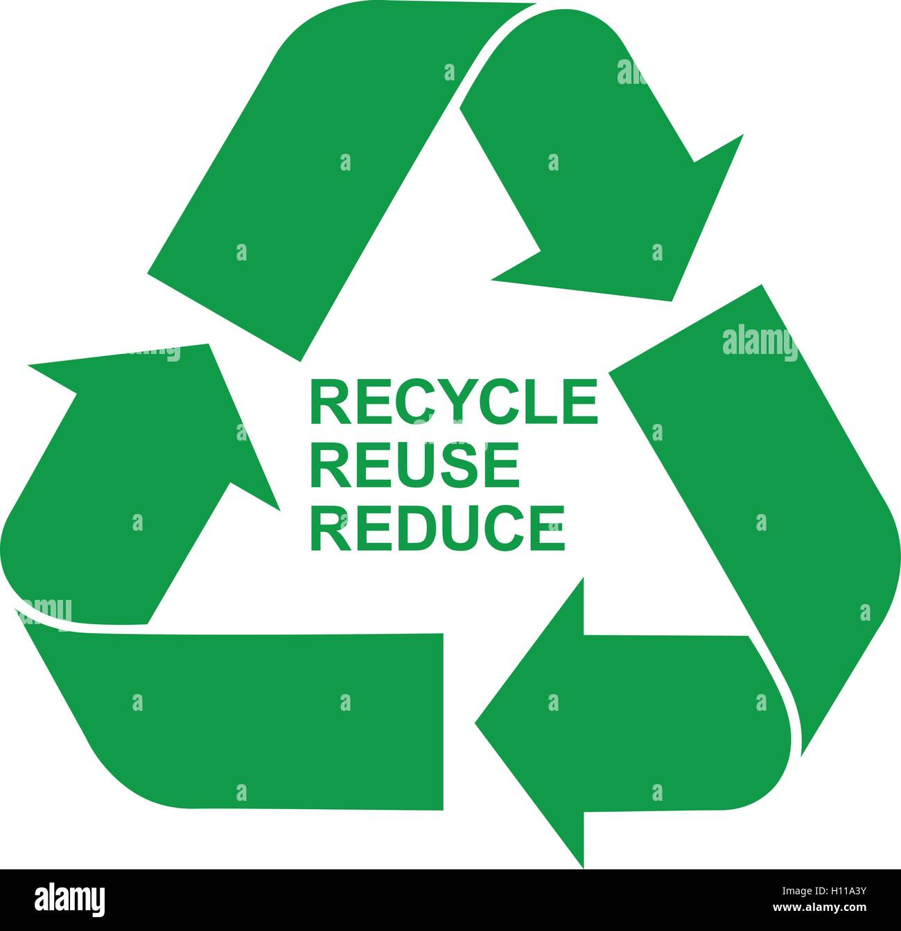 Recycle Reuse Reduce Green Symbol Isolated Green Recycling Icon