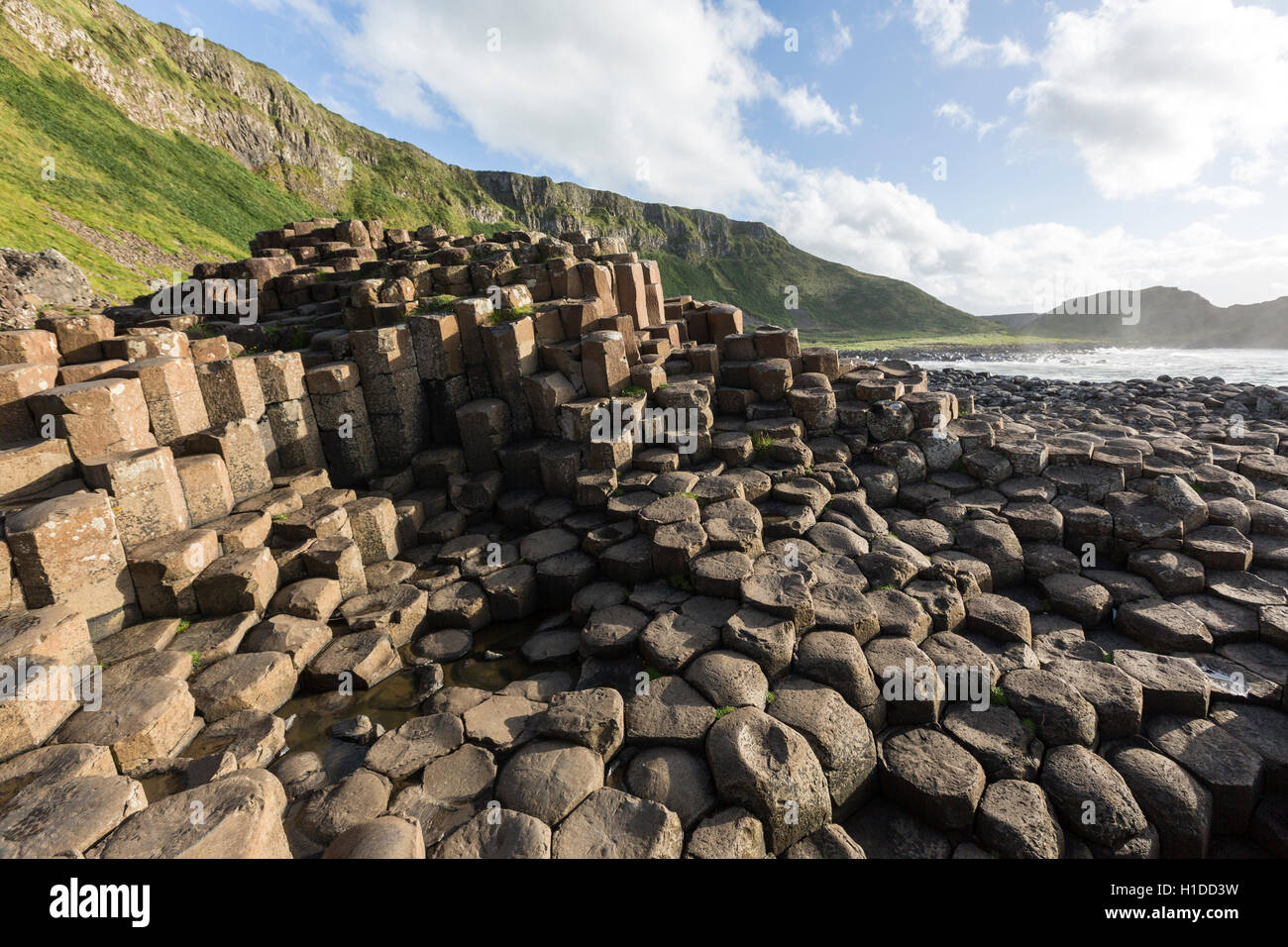 Port Ganny at Giant's Causeway, Bushmills, County Antrim, Northern Ireland, UK Stock Photo