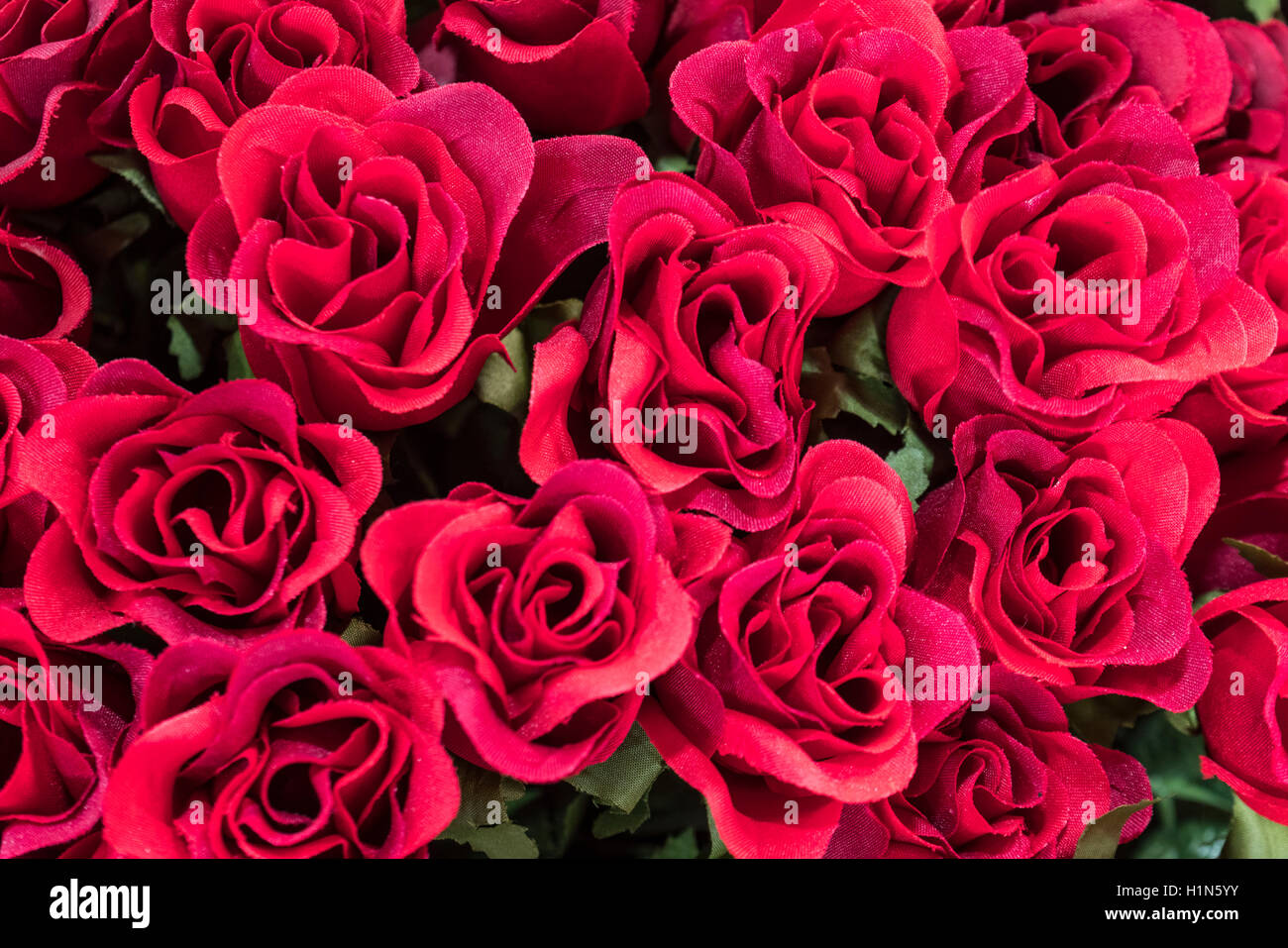 Silk Flowers , Roses,  Old City Center Nice, Vieille Nice, Alpes Maritimes, Provence, French Riviera, Mediterranean, Stock Photo