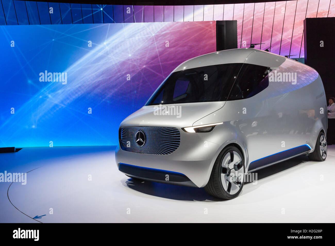 Mercedes Benz Vision Van presentation show at the IAA 2016 Stock ...