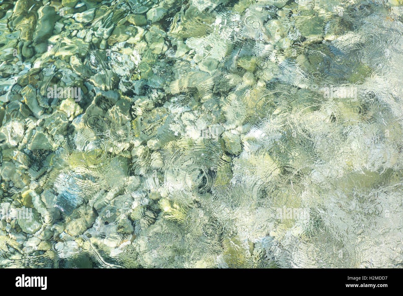 Crystal clear water. - Stock Image