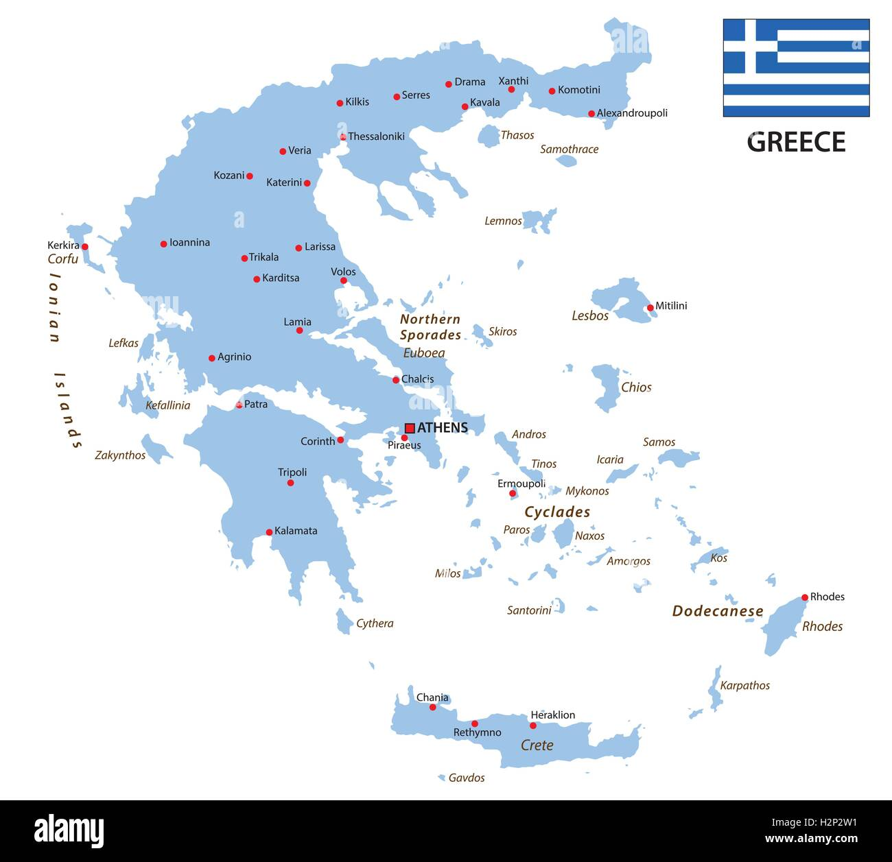 Greece Map Stock Photos Greece Map Stock Images Alamy