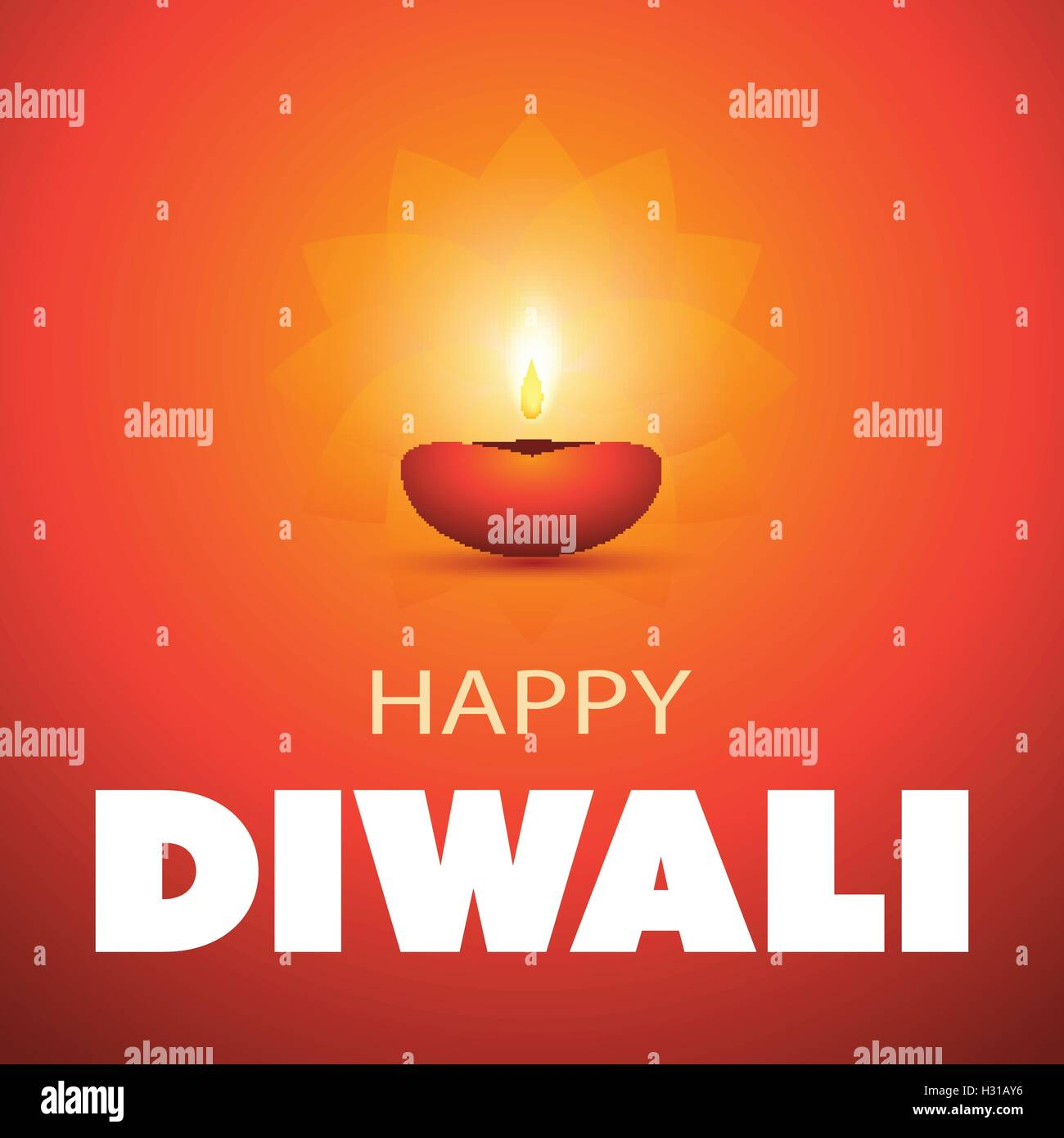 Happy Diwali Abstract Greeting Card Or Background Creative Design