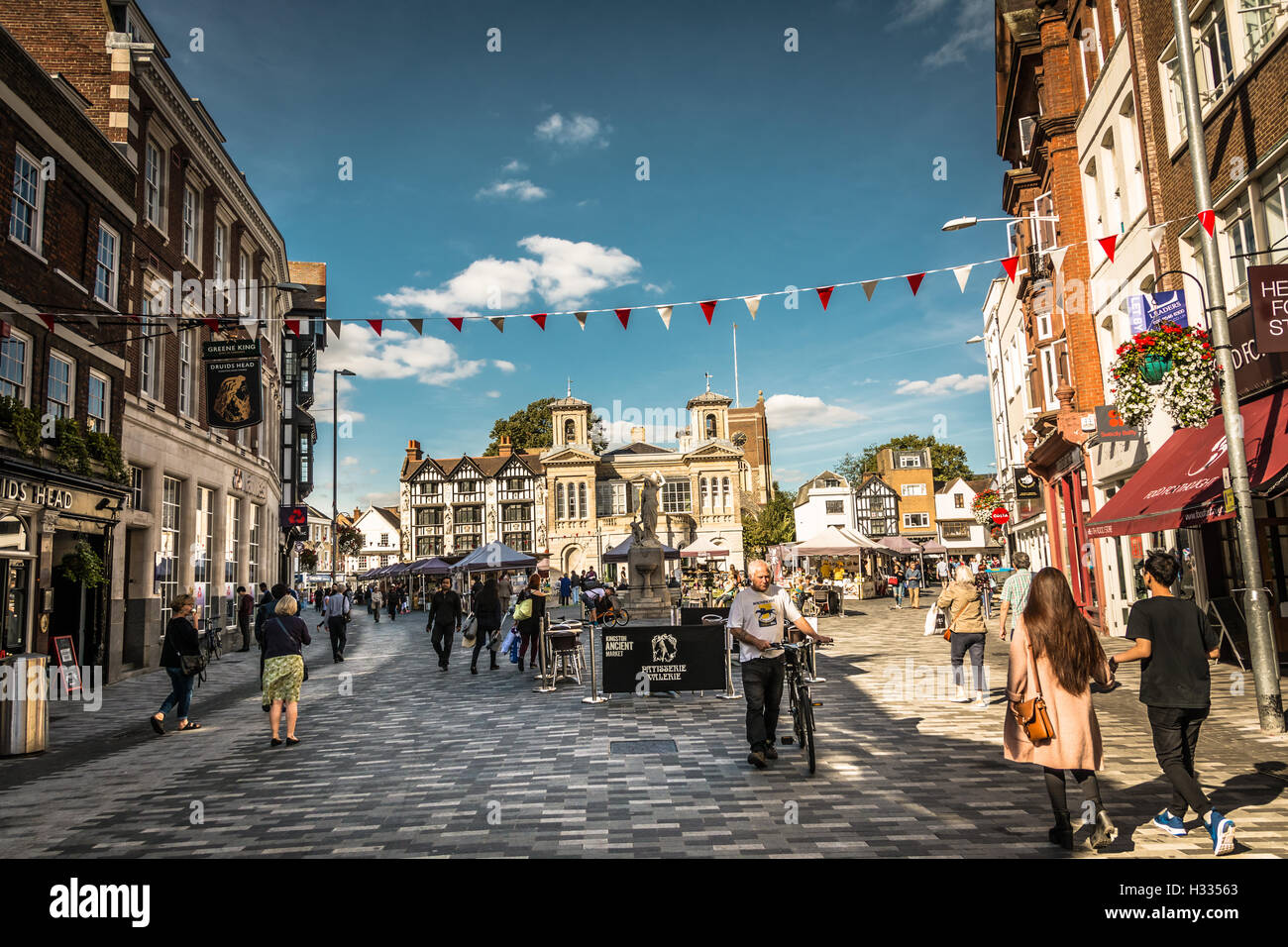 Kingston-Upon-Thames in Surrey, England, UK Stock Photo