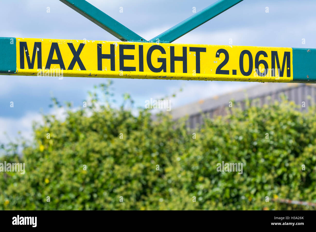 Max Height 2.06M sign. - Stock Image