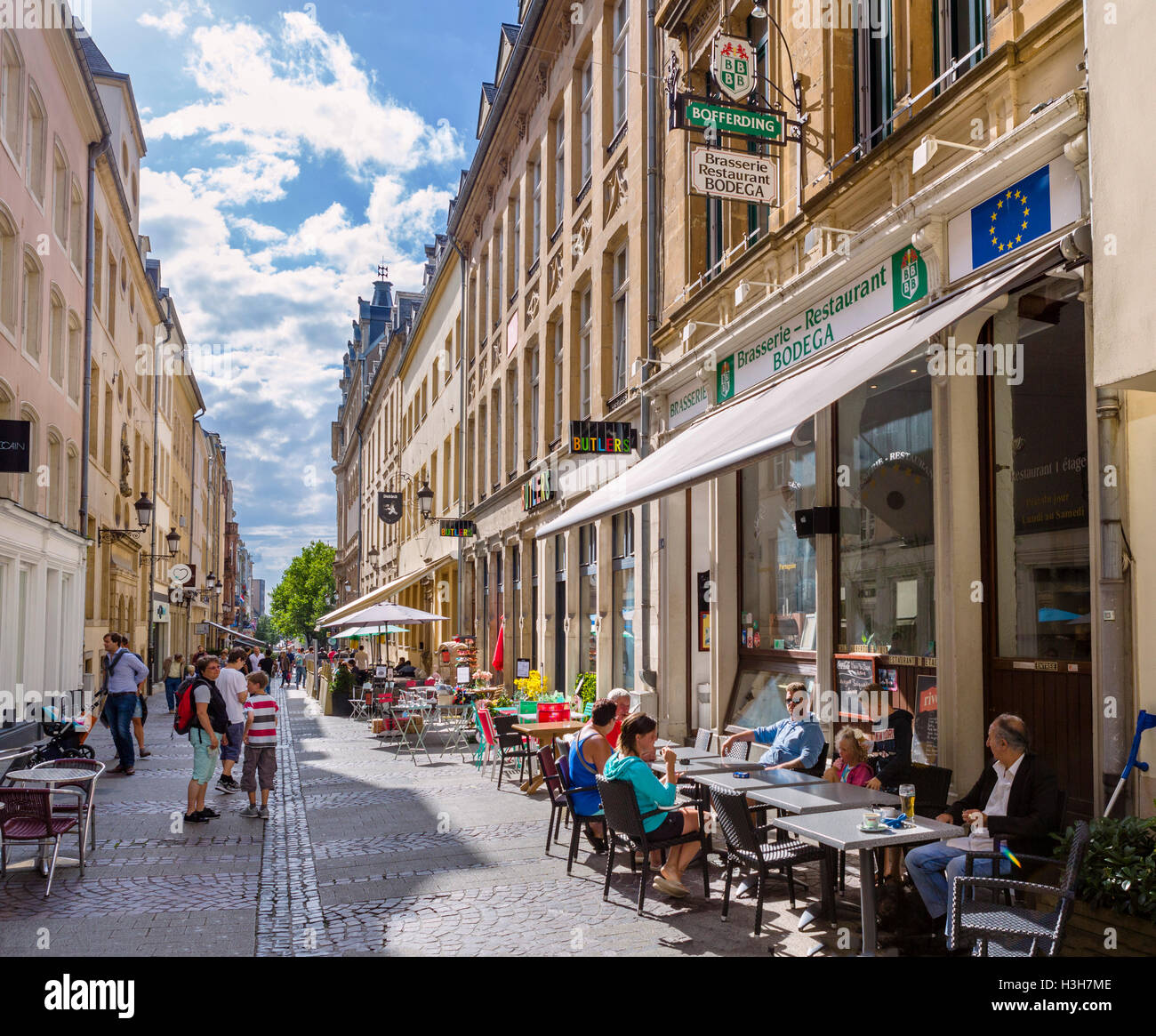 Luxembourg city stock photos luxembourg city stock images alamy cafes on rue du cure in the old town la vieille ville luxembourg altavistaventures Choice Image