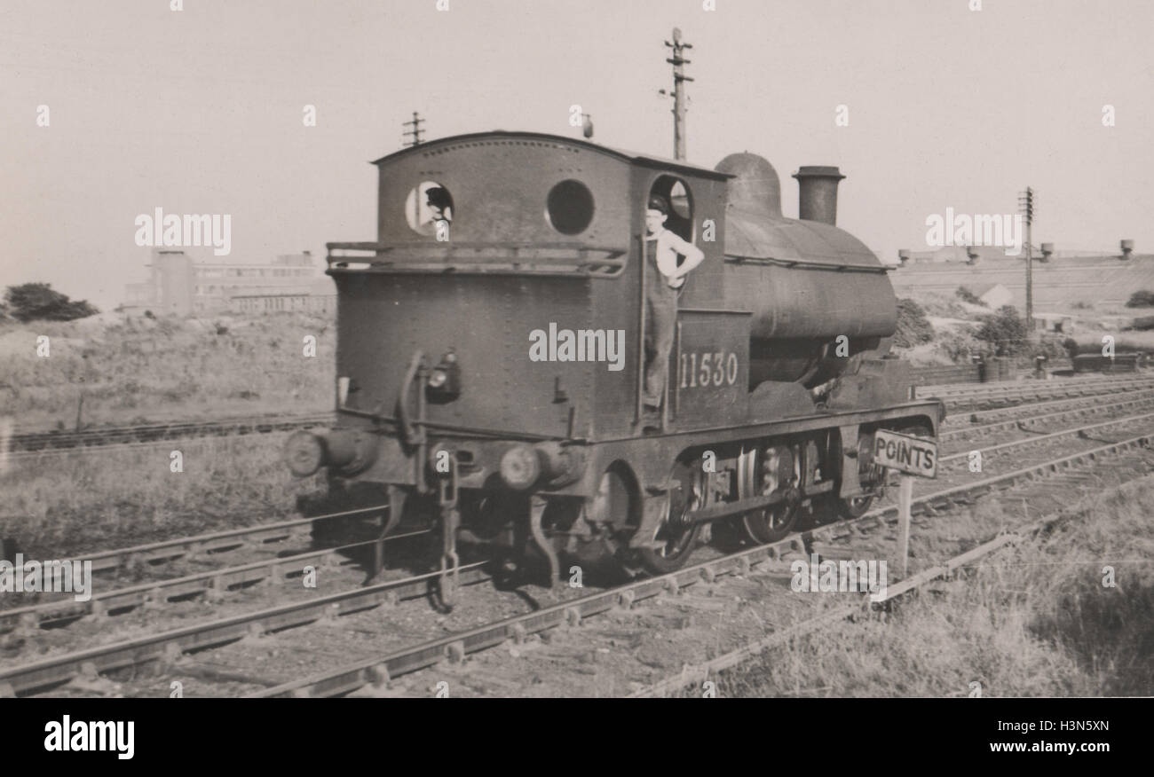 The Lancashire and Yorkshire Railway Barton Wright LYR Class 23 0-6-0ST tender engine introduced 1891.  Used for Stock Photo