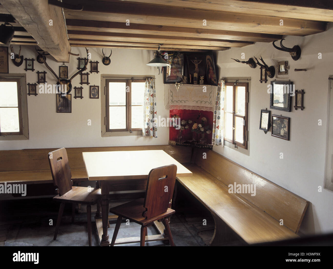 Germany, Upper Bavaria, farmhouse parlour, old, inside, Bavaria ... for Old Farmhouse Inside  186ref