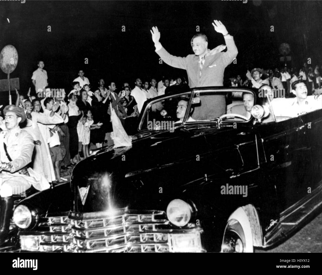Photograph of Gamal Abdel Nasser (1918-1970) second President of Egypt. Dated 20th Century - Stock Image