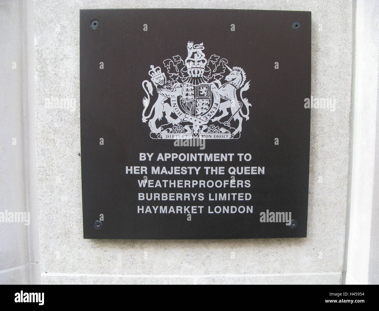 Great Britain, London, Bond Street, Outside Wall, Sign, Coat Arms, England,  Town, Capital, Outside, Business, Street, Shopping Street, Special  Business, ...